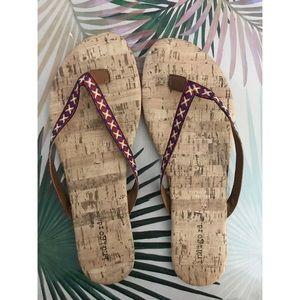 Indigo Rd. Red and White Xs Sandals